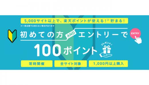 [楽天ペイ] 初回デビュー100ポイントキャンペーン!楽天ペイ(オンライン決済) | 2020年5月31日(日)23:59まで
